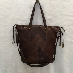 Lucky Brand Leather Patchwork Tote Bag